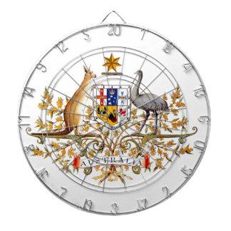 escudo de armas australiano tabla dardos