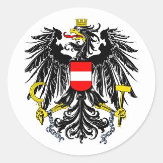 Escudo de armas austríaco pegatina redonda