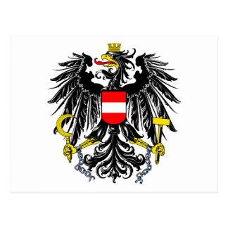 Escudo de armas austríaco tarjeta postal