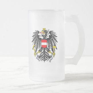 Escudo de armas austríaco taza de cristal
