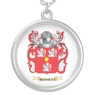 Escudo de armas Bennett-Inglés (escudo de la famil Colgante Redondo