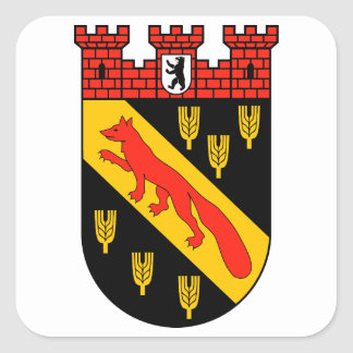 Escudo de armas Berlín Reinickendorf Pegatinas Cuadradas