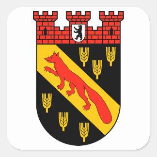 Escudo de armas Berlín Reinickendorf Pegatina Cuadrada