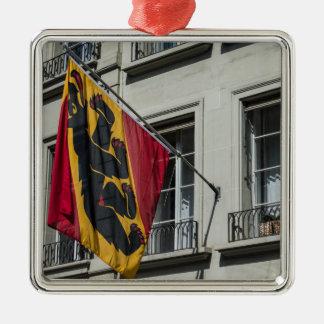 Escudo de armas - Berna - Suiza Adorno Navideño Cuadrado De Metal