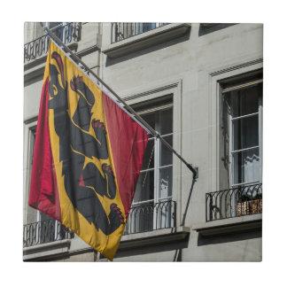 Escudo de armas - Berna - Suiza Azulejo Cuadrado Pequeño