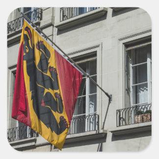Escudo de armas - Berna - Suiza Pegatina Cuadrada