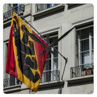 Escudo de armas - Berna - Suiza Reloj Cuadrado