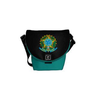 Escudo de armas brasileño bolsas de mensajeria