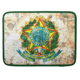 Escudo de armas brasileño fundas para macbooks