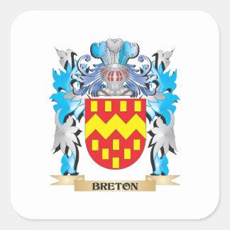 Escudo de armas bretón colcomanias cuadradases