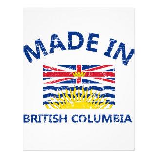escudo de armas británico de Colombia Membrete Personalizado