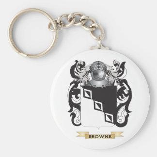 Escudo de armas Browne-2 (escudo de la familia) Llavero Redondo Tipo Pin