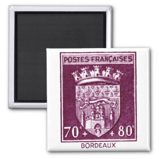 Escudo de armas, Burdeos Francia Imán Cuadrado