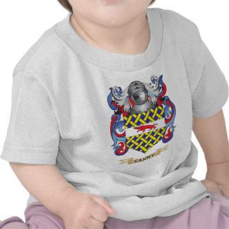 Escudo de armas cauto escudo de la familia camiseta