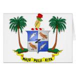 Escudo de armas cc de las islas de los Cocos (Keel Tarjetas