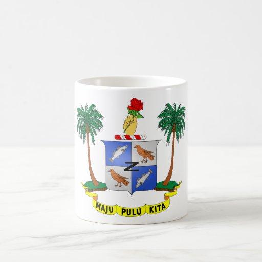 Escudo de armas cc de las islas de los Cocos (Keel Tazas