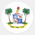 Escudo de armas cc de las islas de los Cocos Pegatina Redonda