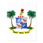 Escudo de armas cc de las islas de los Cocos Postal