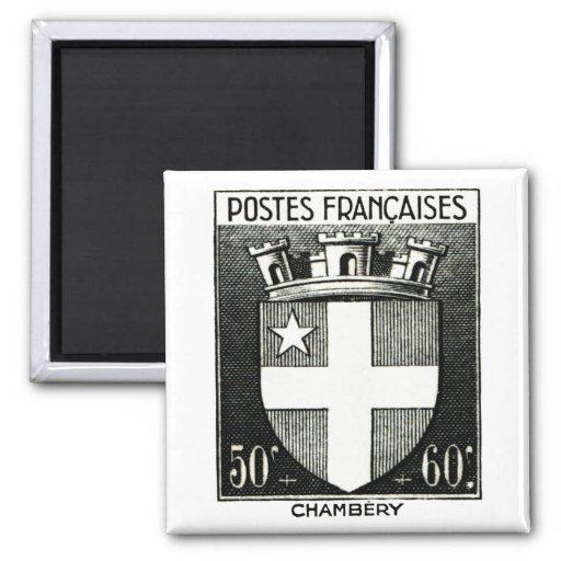 Escudo de armas, Chambery Francia Iman De Nevera