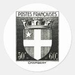Escudo de armas, Chambery Francia Pegatina Redonda