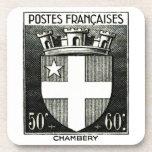 Escudo de armas, Chambery Francia Posavasos