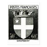 Escudo de armas, Chambery Francia Postal