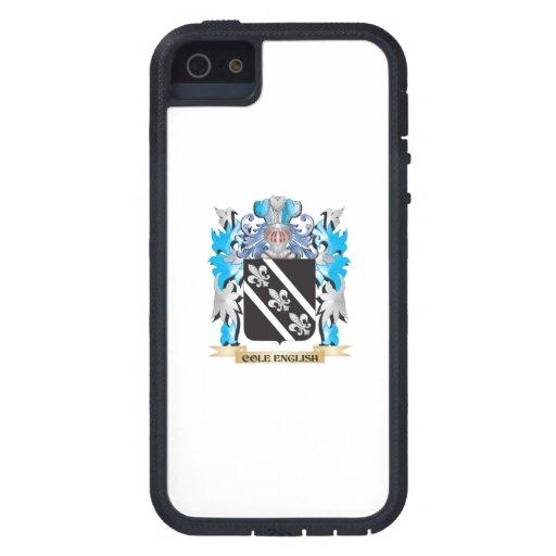 Escudo de armas Col-Inglés - escudo de la familia iPhone 5 Case-Mate Funda