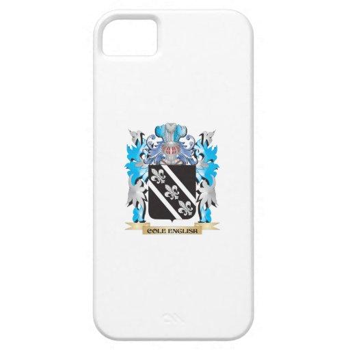 Escudo de armas Col-Inglés - escudo de la familia iPhone 5 Case-Mate Protectores
