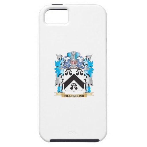 Escudo de armas Colina-Inglés - escudo de la iPhone 5 Case-Mate Cárcasas