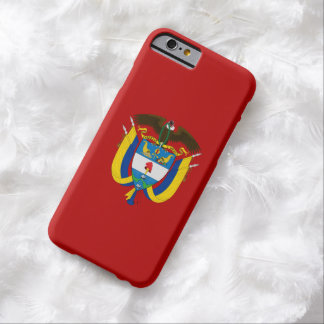 Escudo de armas colombiano funda de iPhone 6 barely there