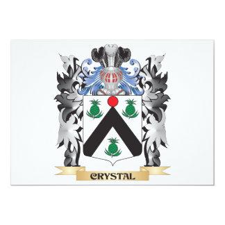 """Escudo de armas cristalino - escudo de la familia invitación 5"""" x 7"""""""