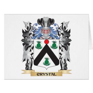 Escudo de armas cristalino - escudo de la familia tarjeta de felicitación grande