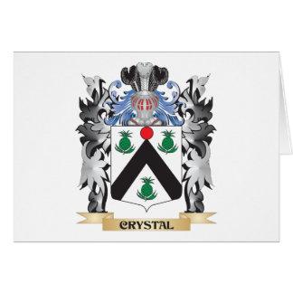 Escudo de armas cristalino - escudo de la familia tarjeta pequeña