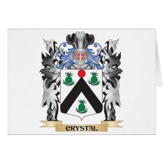 Escudo de armas cristalino - escudo de la familia tarjeta de felicitación