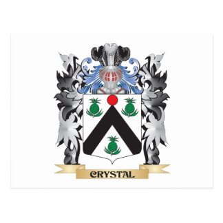Escudo de armas cristalino - escudo de la familia postal