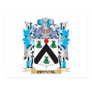 Escudo de armas cristalino - escudo de la familia tarjeta postal