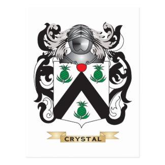 Escudo de armas cristalino tarjeta postal