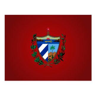 Escudo de armas cubano postal