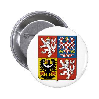 Escudo de armas CZ de la República Checa Pin Redondo 5 Cm