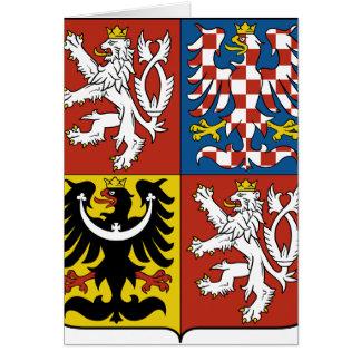 Escudo de armas CZ de la República Checa Tarjeta