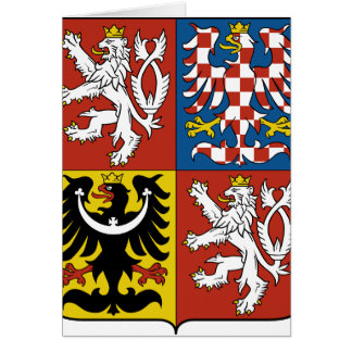 Escudo de armas CZ de la República Checa Tarjeta De Felicitación