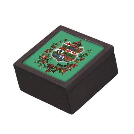 Escudo de armas de 1905 canadienses caja de recuerdo de calidad