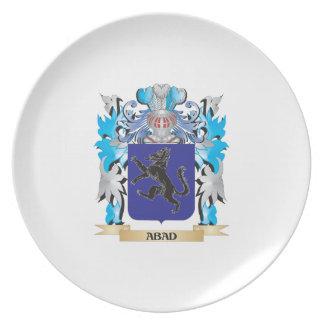 Escudo de armas de Abad Plato De Comida