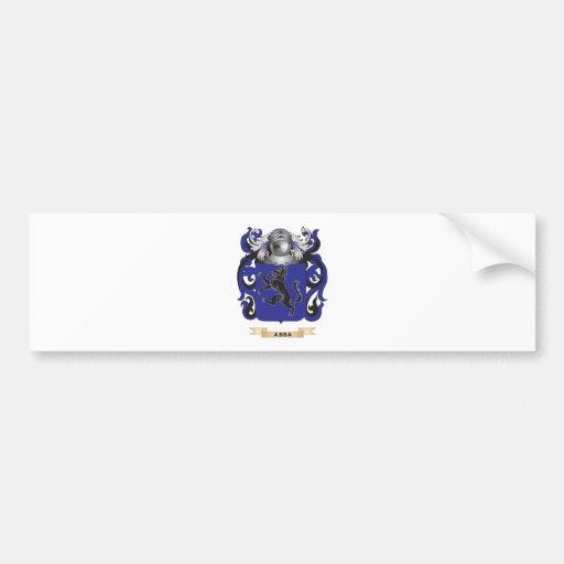 Escudo de armas de Abba (escudo de la familia) Pegatina De Parachoque