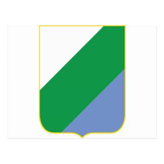 Escudo de armas de Abruzos (Italia) Postal