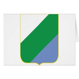Escudo de armas de Abruzos (Italia) Tarjeton