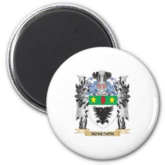 Escudo de armas de Acheson - escudo de la familia Imán Redondo 5 Cm