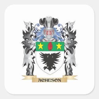 Escudo de armas de Acheson - escudo de la familia Pegatina Cuadrada