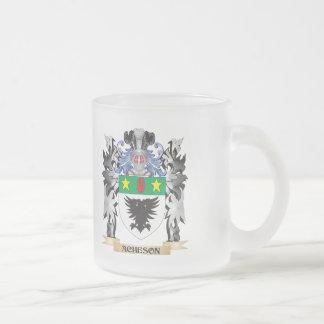 Escudo de armas de Acheson - escudo de la familia Taza Cristal Mate