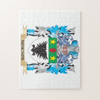 Escudo de armas de Acheson Rompecabeza Con Fotos